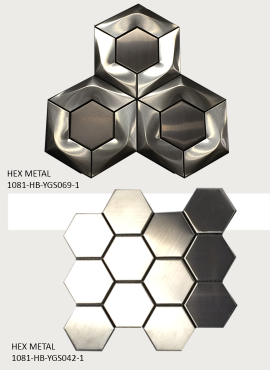 STAINLESS STEEL HEXAGON TILES 2