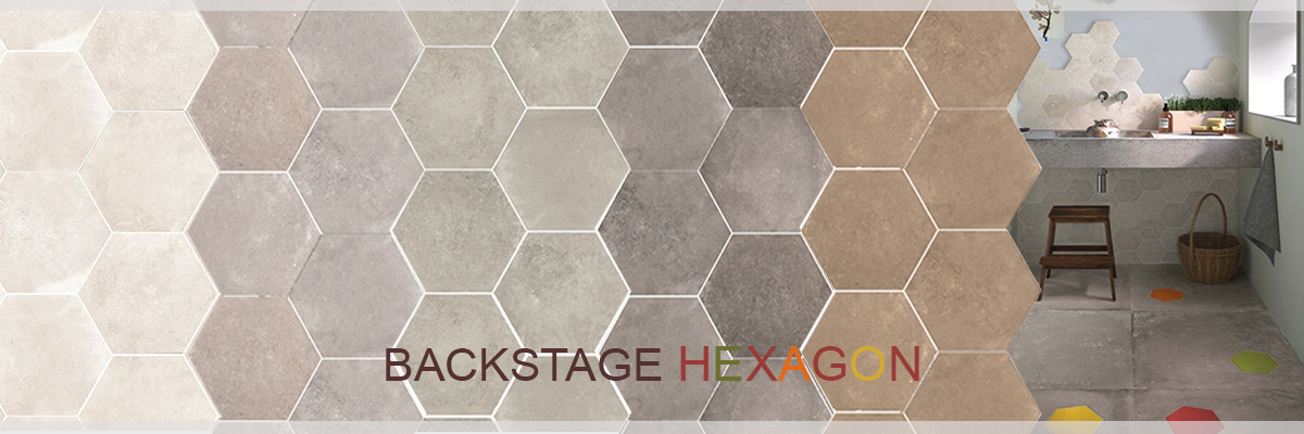 BACKSTAGE HEXAGON PORCELAIN TILE